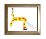 Une girafe dans le coup