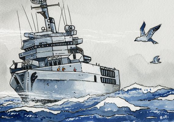 La Jeanne en mer
